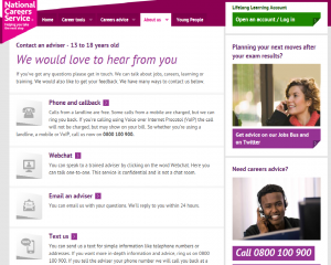 National Careers Service screen shot 2